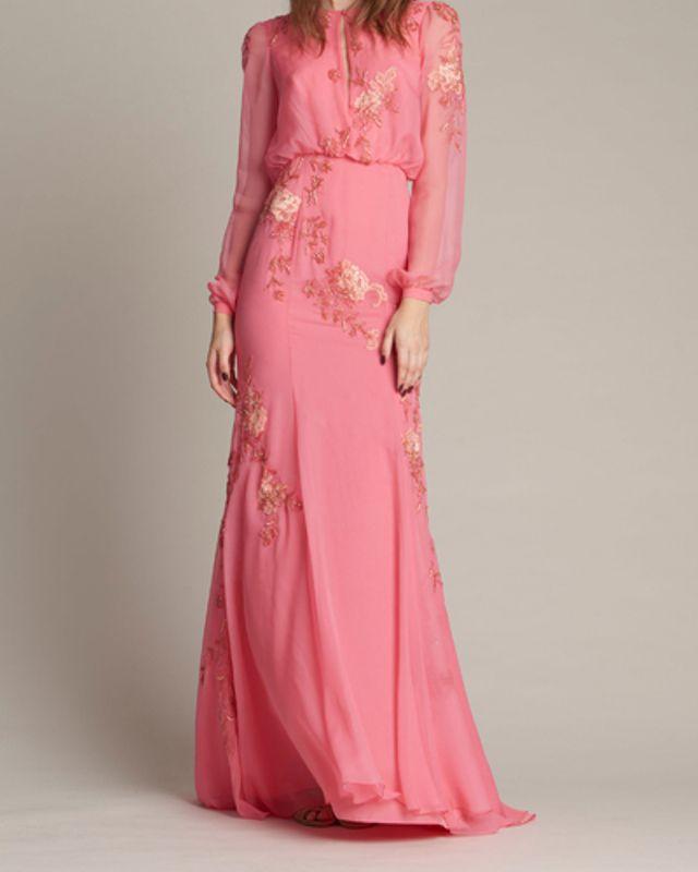 بالصور فساتين ناعمه طويله , اروع فستان رقيق للمحجبات 1280 6