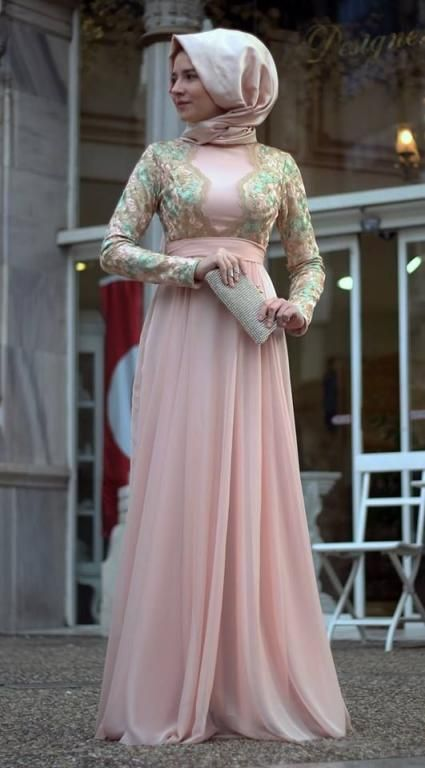 بالصور فساتين ناعمه طويله , اروع فستان رقيق للمحجبات 1280 8