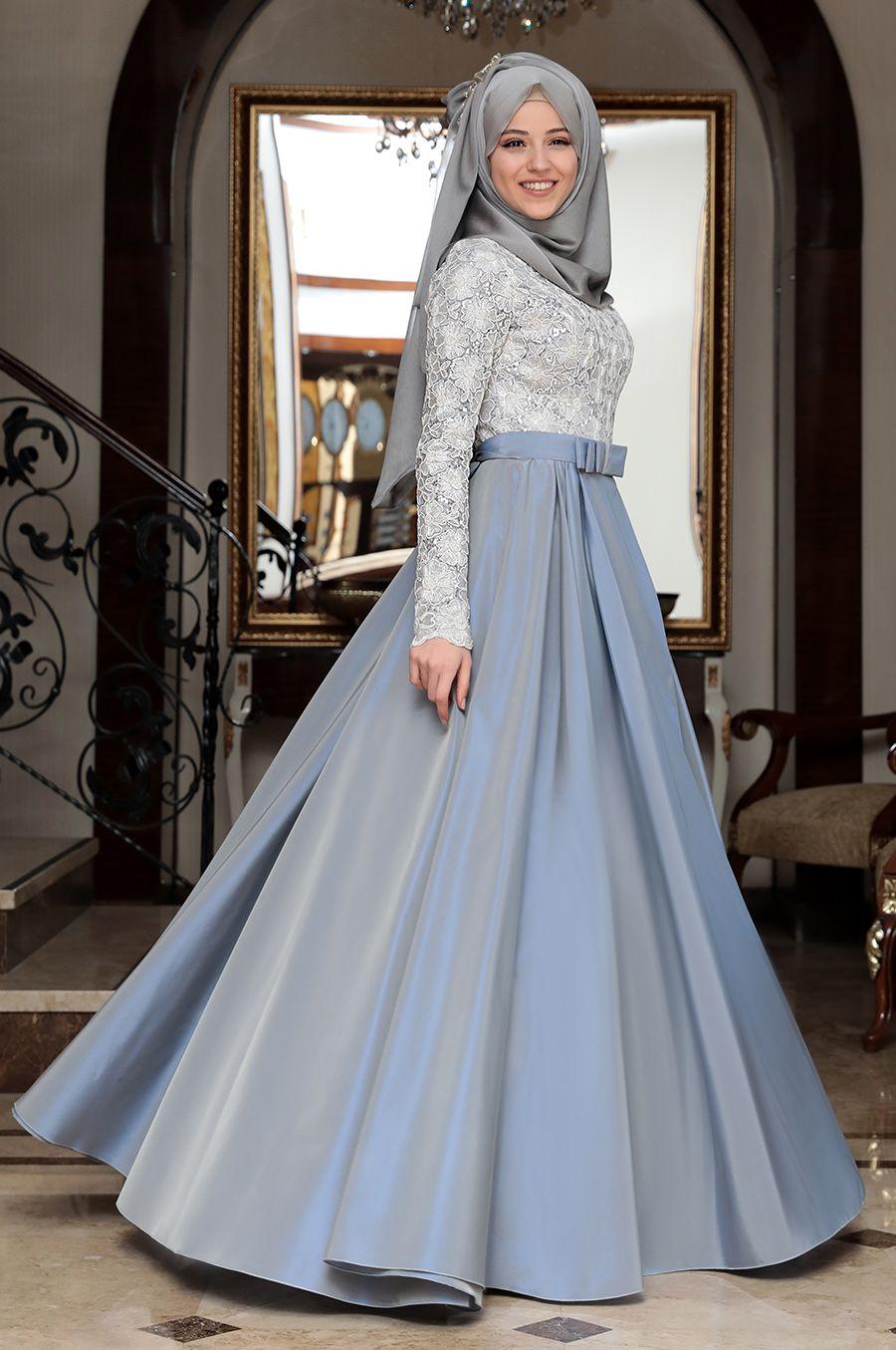 بالصور فساتين ناعمه طويله , اروع فستان رقيق للمحجبات 1280 9
