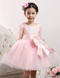 بالصور فساتين اطفال قصيره منفوشه , كولكشن لفستان طفلة بالتل المنفوش 1288 2