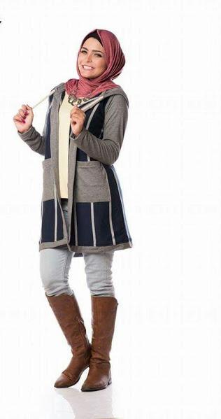 بالصور ملابس محجبات كاجوال للبدينات , ازياء للحجاب روعه 1289 8