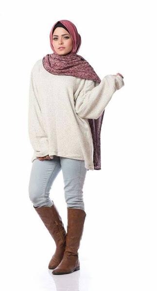بالصور ملابس محجبات كاجوال للبدينات , ازياء للحجاب روعه 1289