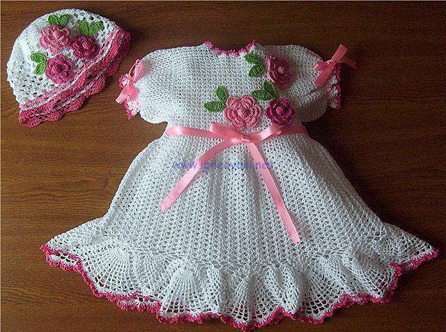 صور فساتين كروشية للبنات , اجمل فستان للاطفال