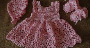 فساتين كروشية للبنات , اجمل فستان للاطفال