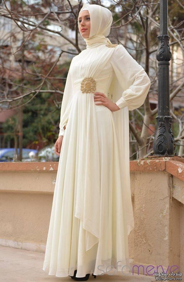 بالصور فساتين سهرة ابيض , فستان للمناسبات والسهرات 1312 2