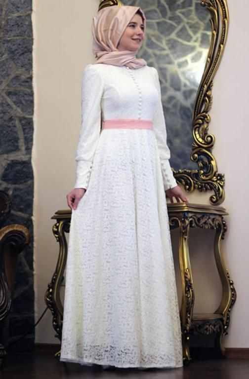 بالصور فساتين سهرة ابيض , فستان للمناسبات والسهرات 1312 8