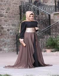 صور فساتين بجاكيت للمحجبات , افضل تصاميم فساتين للحجاب