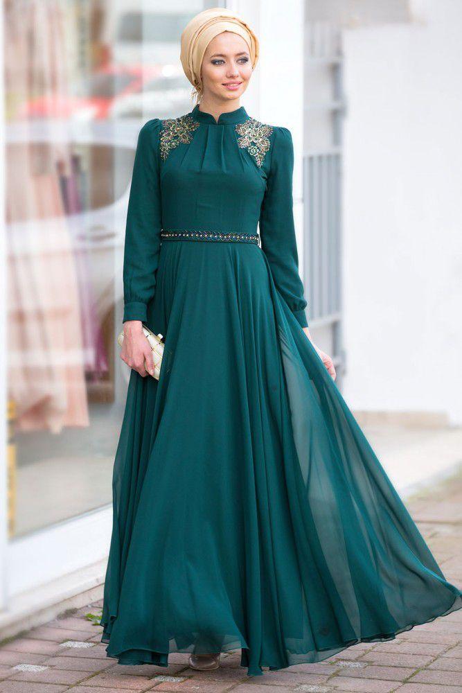 بالصور ملابس كلاسيكية للمحجبات , فساتين محجبات بسيطه 1322 4