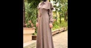 صورة ملابس كلاسيكية للمحجبات , فساتين محجبات بسيطه
