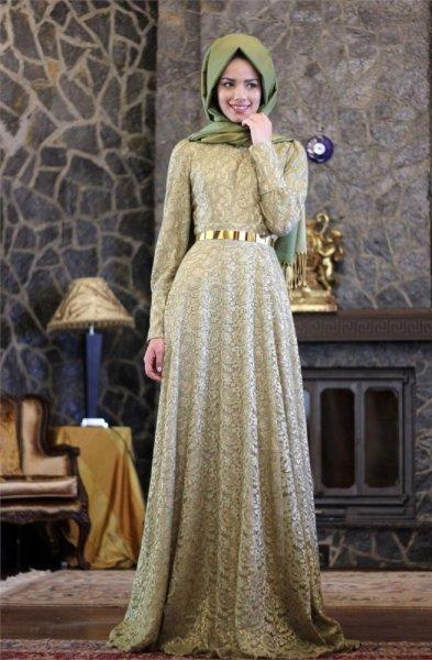 بالصور فساتين محجبات سهرة , ملابس مميزة للحجاب 1324 3