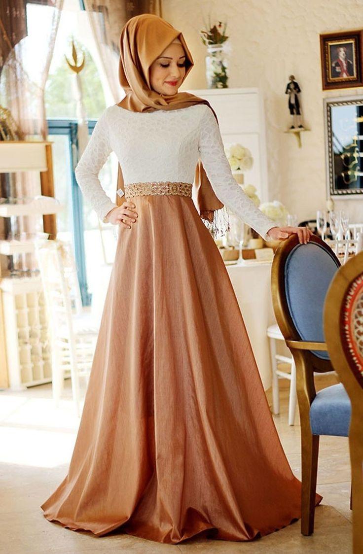 بالصور فساتين حجاب تركية , اشيك فستان حجاب تركى 3093 1