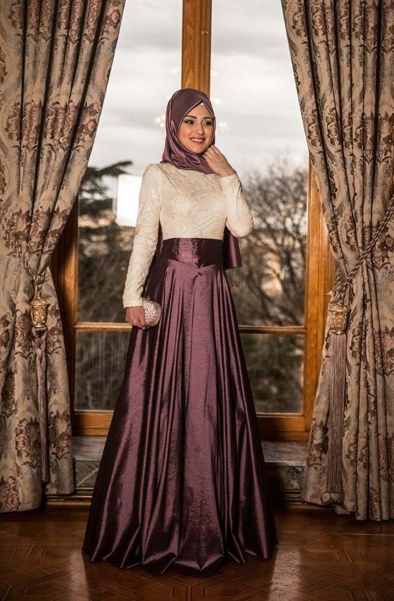 بالصور فساتين حجاب تركية , اشيك فستان حجاب تركى 3093 2