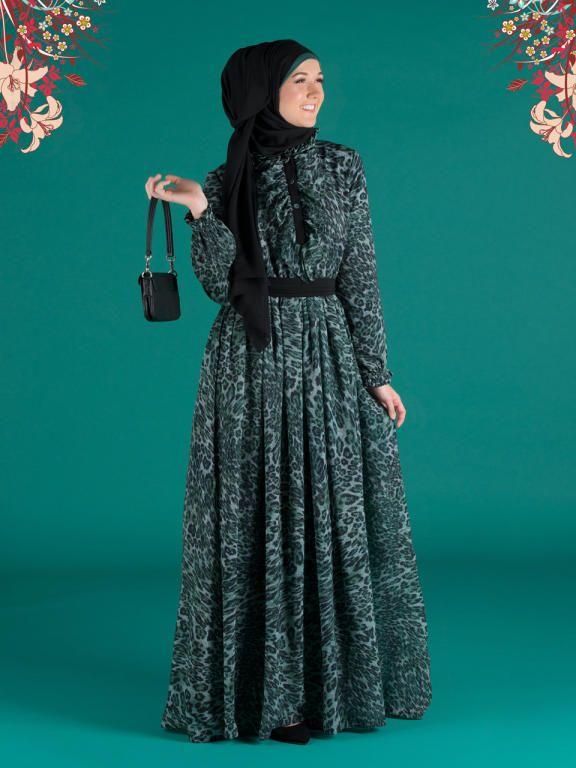 بالصور فساتين حجاب تركية , اشيك فستان حجاب تركى 3093 3
