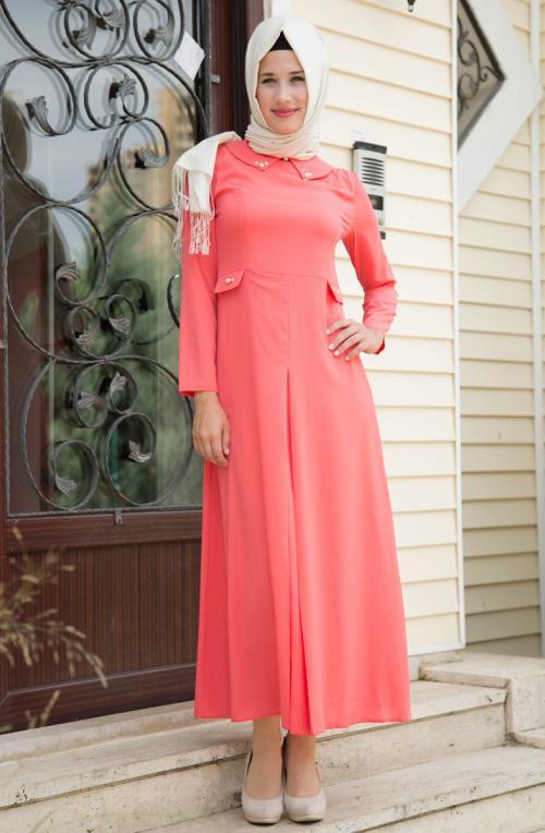 بالصور فساتين حجاب تركية , اشيك فستان حجاب تركى 3093 4