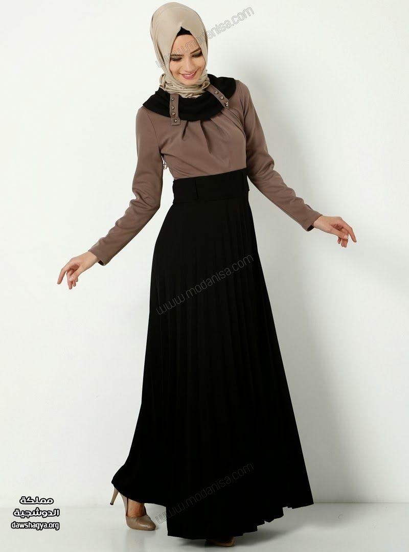 بالصور فساتين حجاب تركية , اشيك فستان حجاب تركى 3093 5