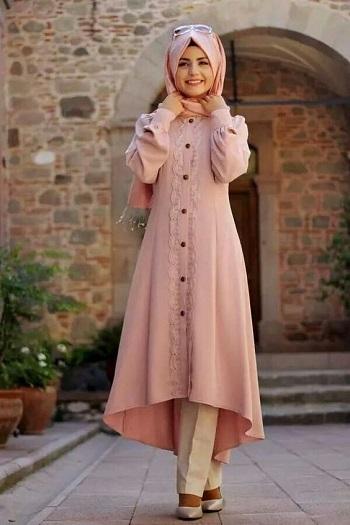 بالصور فساتين حجاب تركية , اشيك فستان حجاب تركى 3093 6