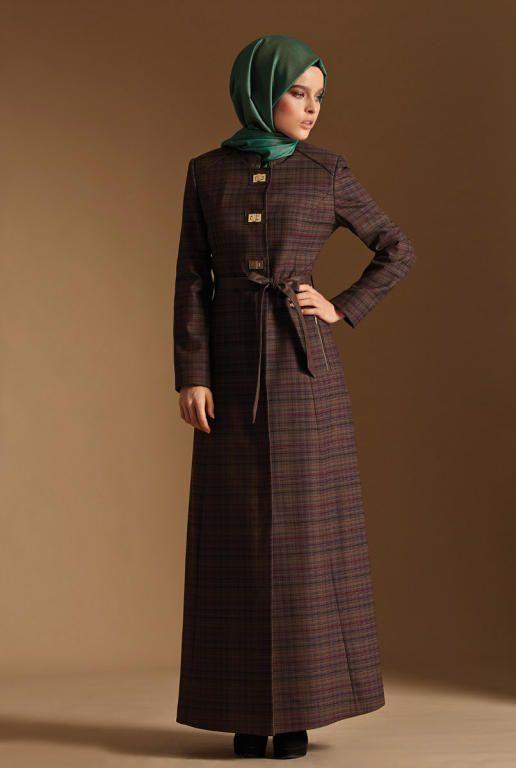 بالصور فساتين حجاب تركية , اشيك فستان حجاب تركى 3093 7