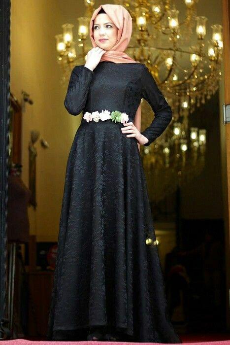 بالصور فساتين حجاب تركية , اشيك فستان حجاب تركى 3093