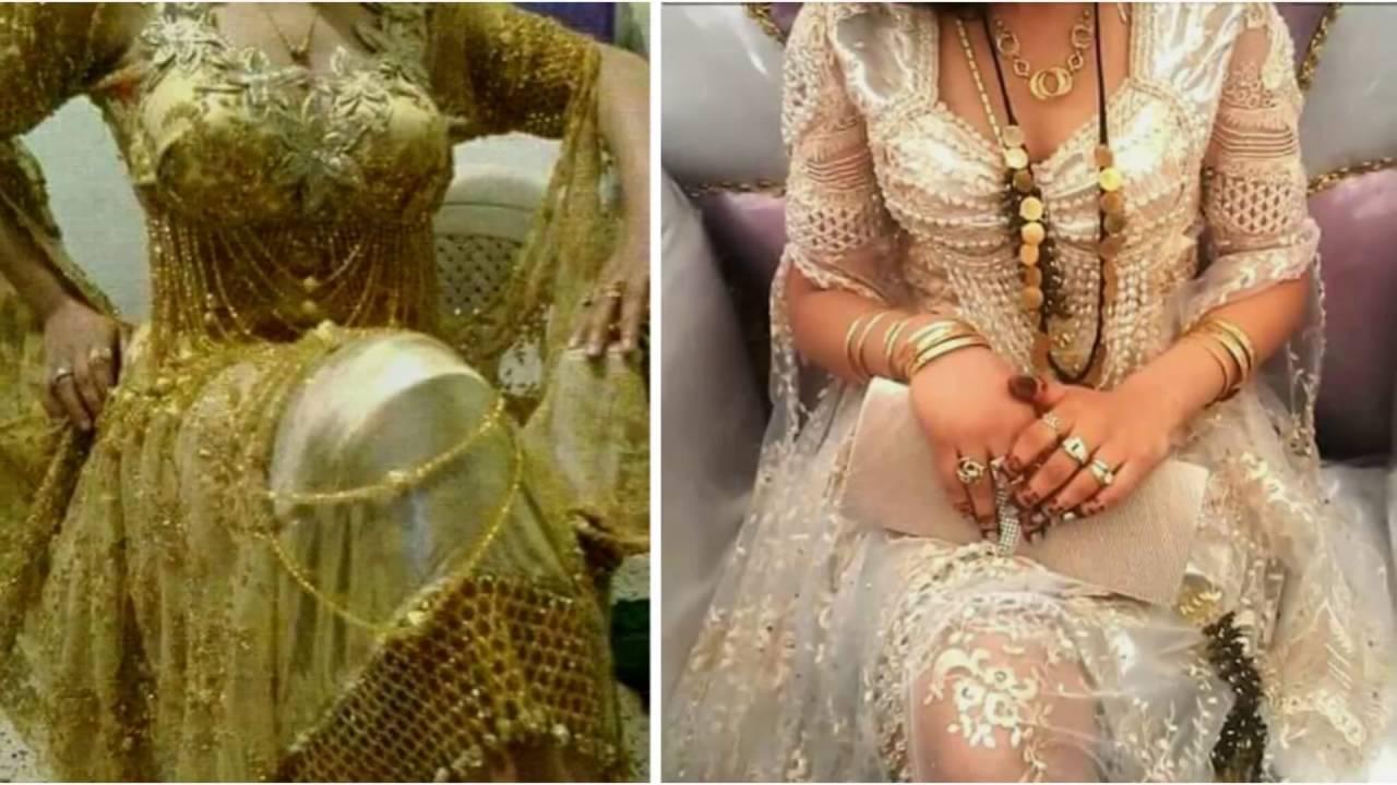 بالصور فساتين اعراس جزائرية نايلي , اجمل تشكيلة لفساتين نايلى للعرائس الجزائرية 3101 5