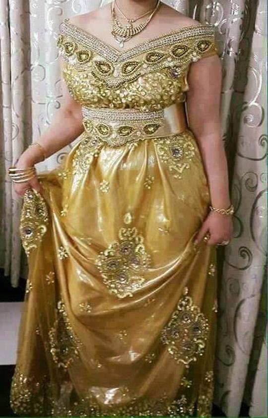 بالصور فساتين اعراس جزائرية نايلي , اجمل تشكيلة لفساتين نايلى للعرائس الجزائرية 3101 6