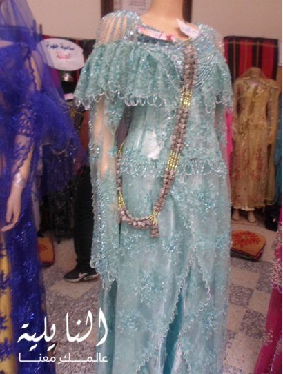 بالصور فساتين اعراس جزائرية نايلي , اجمل تشكيلة لفساتين نايلى للعرائس الجزائرية 3101 7