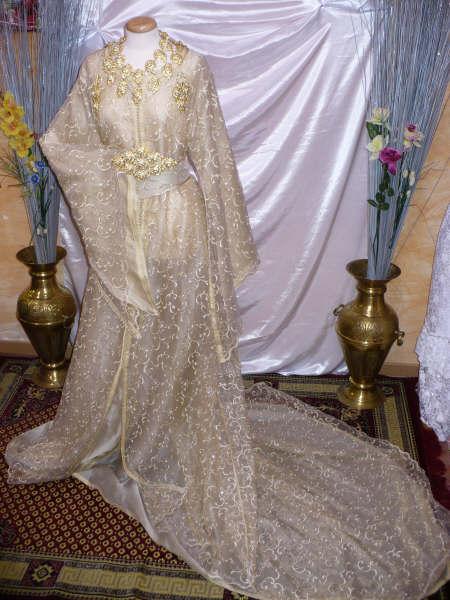 بالصور فساتين اعراس جزائرية نايلي , اجمل تشكيلة لفساتين نايلى للعرائس الجزائرية 3101