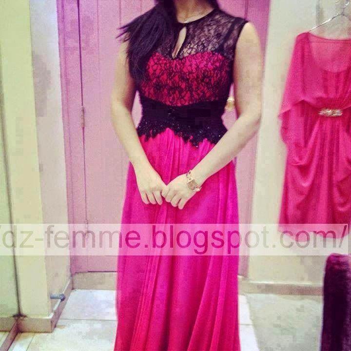 بالصور موديلات فساتين دانتيل جزائرية , احدث موديلات الفساتين الجزائرية بالدانتيل 3123