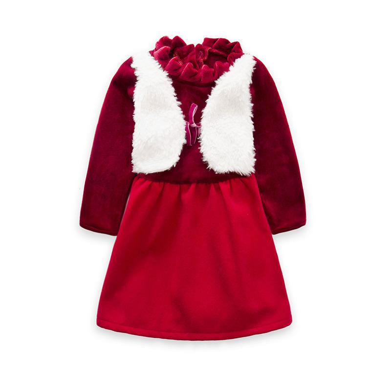 بالصور فساتين اطفال شتويه مخمل , احدث موديل فستان شتوى للبنات الصغار 3124 6