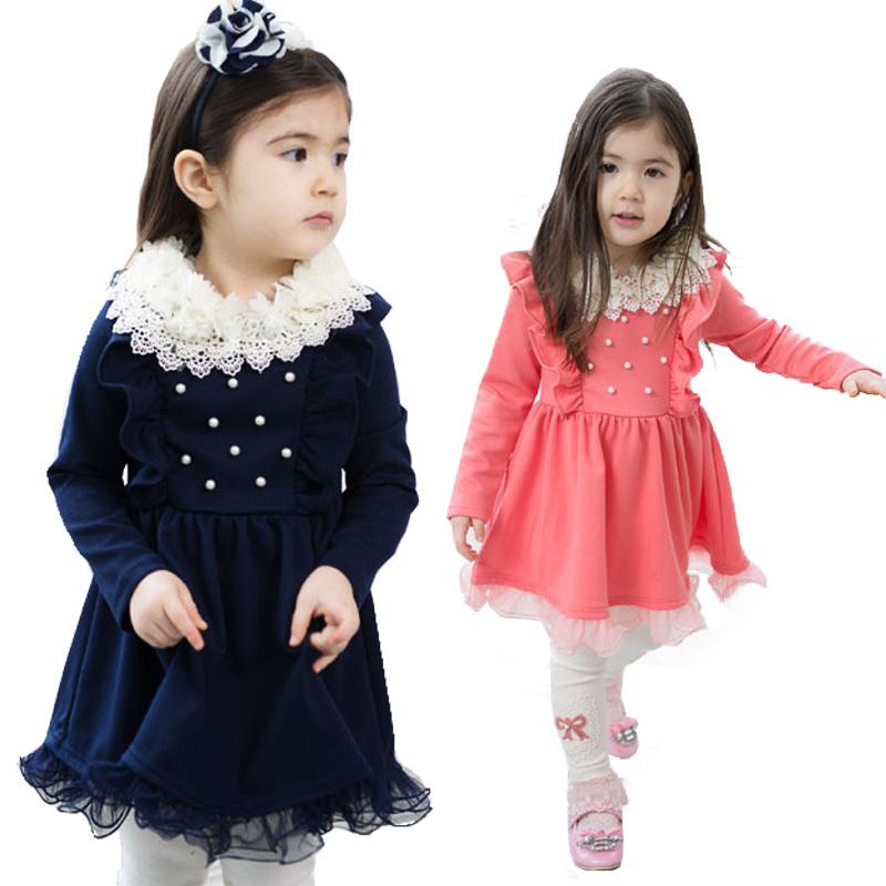 فساتين اطفال شتويه مخمل احدث موديل فستان شتوى للبنات الصغار اجمل