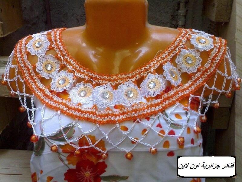 بالصور موديلات فساتين جزائرية كروشي , اجمل ستايلات لفساتين كروشيه جزائرية 3125 2