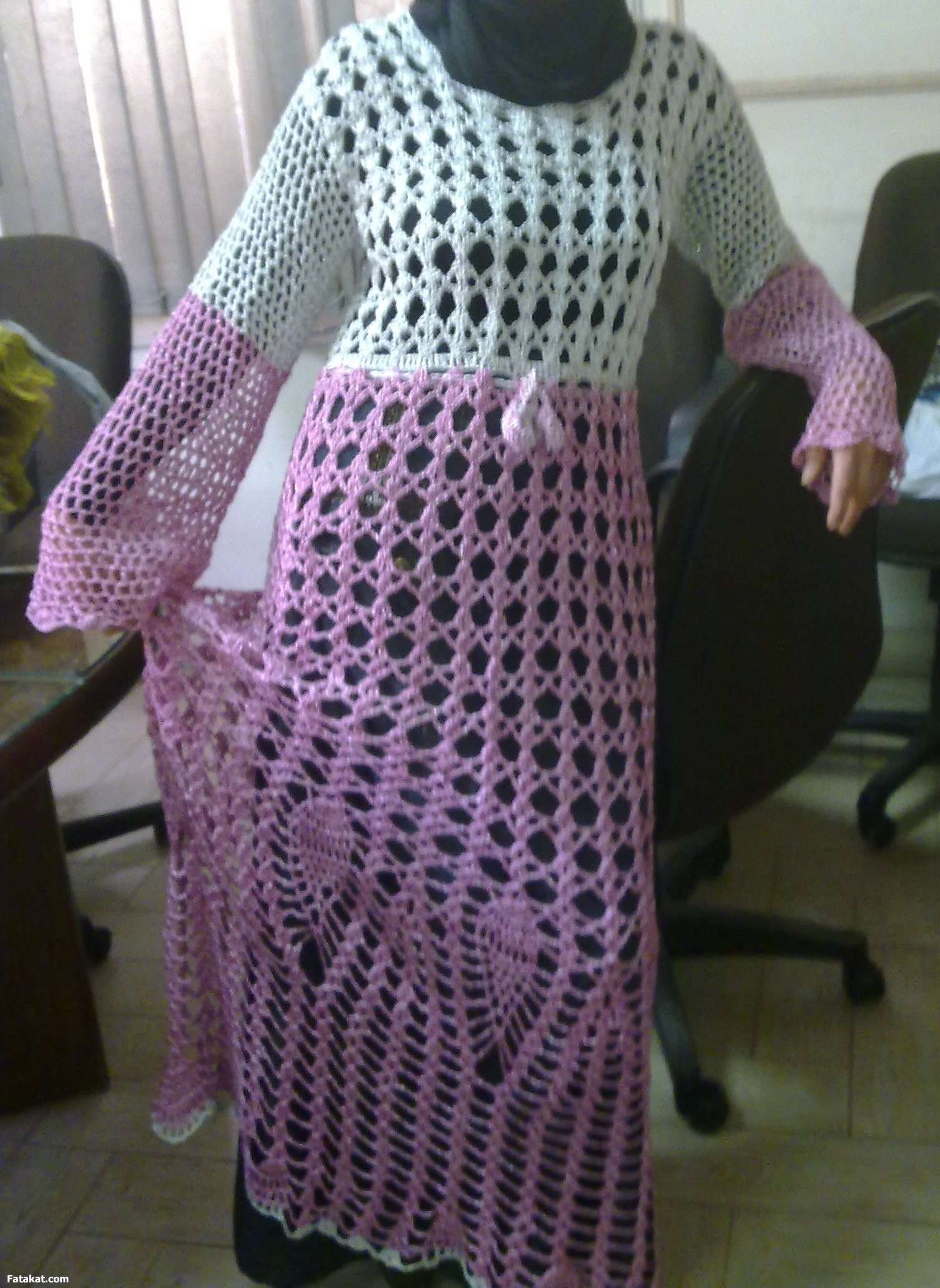 بالصور موديلات فساتين جزائرية كروشي , اجمل ستايلات لفساتين كروشيه جزائرية 3125 8
