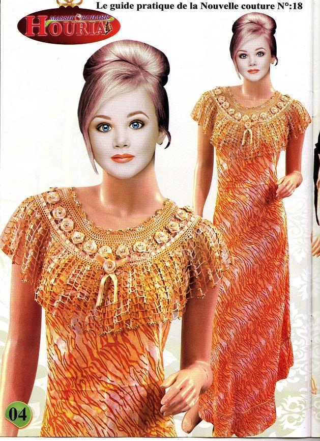 بالصور موديلات فساتين جزائرية كروشي , اجمل ستايلات لفساتين كروشيه جزائرية 3125 9