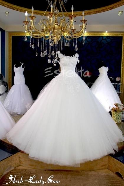 بالصور صور فساتين زفاف مذهله , فستان عروسه رائع 3159 5