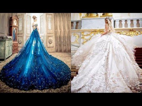صورة اجمل 10 فساتين زفاف , تصاميم فساتين تحفه