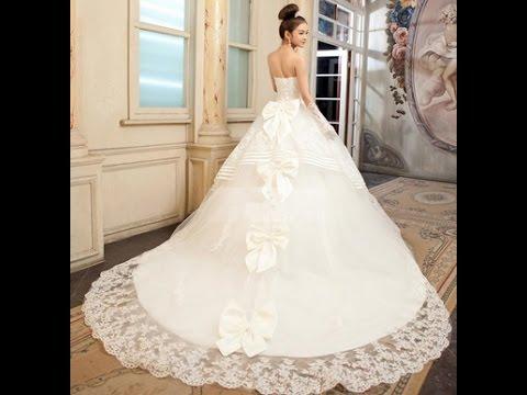 صور اجمل 10 فساتين زفاف , تصاميم فساتين تحفه