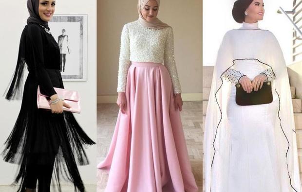 بالصور فساتين تركية رائعة للمحجبات , فساتين حجاب تحفه 3174 9