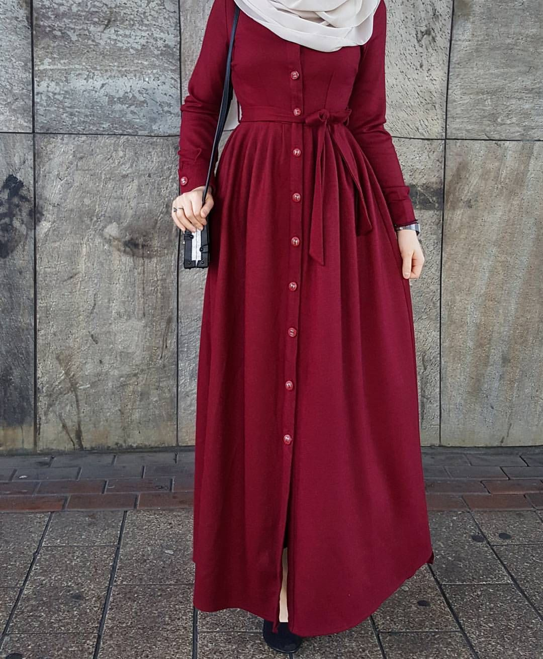 بالصور فساتين محجبات للخروج 2019 , فستان خروج للمحجبات 3175 4