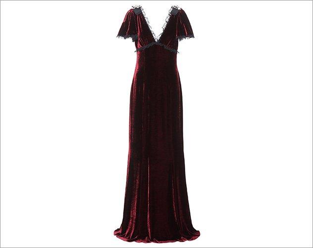 بالصور موديلات فساتين مخمل طويل , اروع فستان مخملى 3177 10