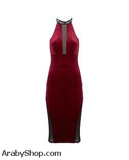 بالصور موديلات فساتين مخمل طويل , اروع فستان مخملى 3177 2