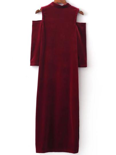 بالصور موديلات فساتين مخمل طويل , اروع فستان مخملى 3177 4