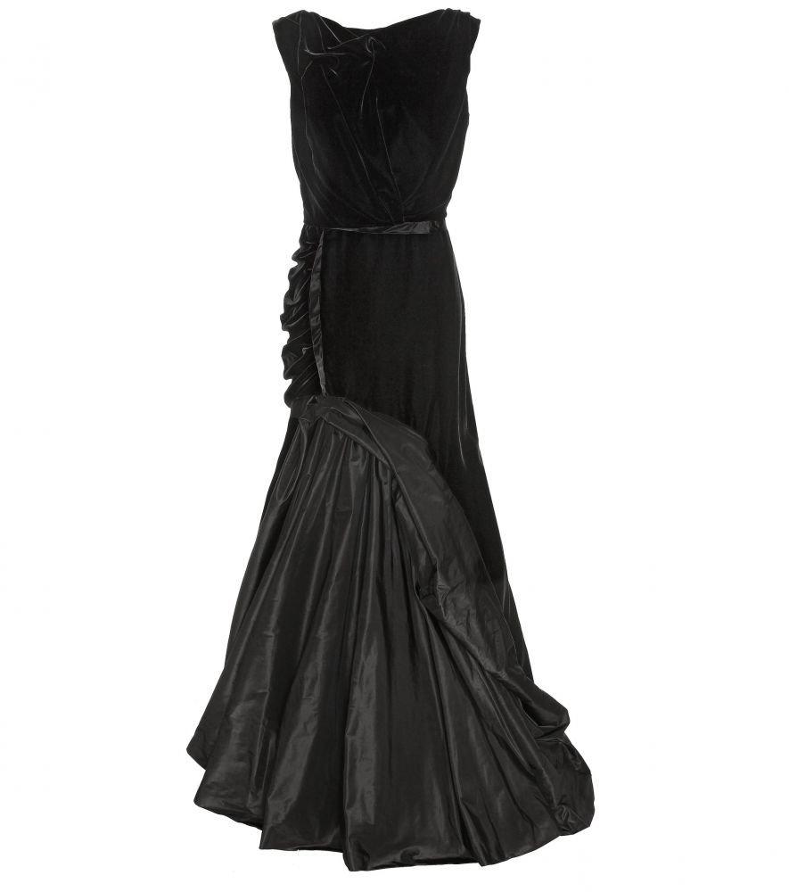 بالصور موديلات فساتين مخمل طويل , اروع فستان مخملى 3177 8