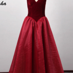 فساتين سهرة 2020 للسمينات , فستان مناسب للسمنه الاوله