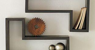 صور ديكورات رفوف خشبية للحائط , ديكور رف خشب بالمنزل المودرن