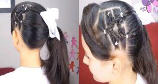 صوره طريقة تسريح الشعر للبنات , تسريحات شعر للاطفال