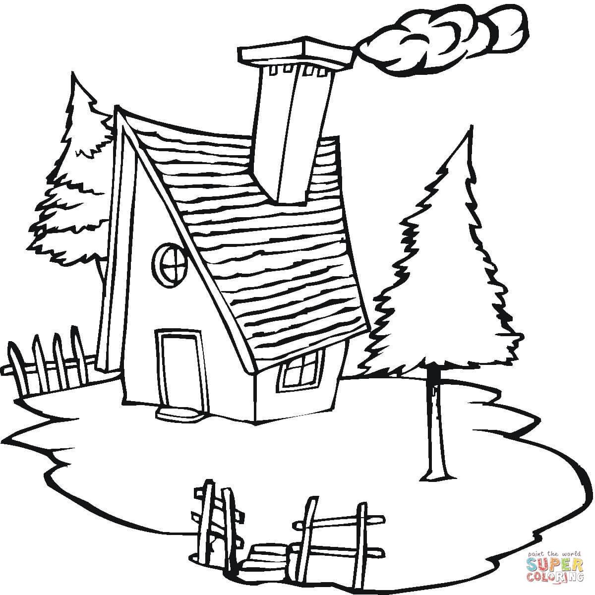 رسومات فصل الشتاء للاطفال رسم