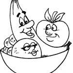 صور تلوين فواكه وخضروات , صور رسومات فواكه و خضروات للاطفال جاهزة للتلوين والطباعة