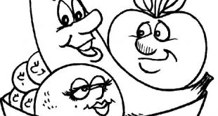 صوره صور تلوين فواكه وخضروات , صور رسومات فواكه و خضروات للاطفال جاهزة للتلوين والطباعة