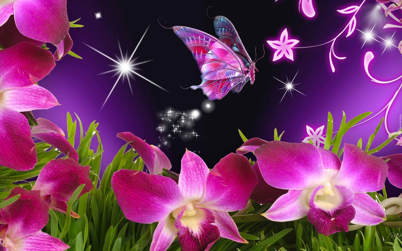 صوره صور فراشات جميلة وزهور رقيقة , خلفيات رومانسية من الطبيعة