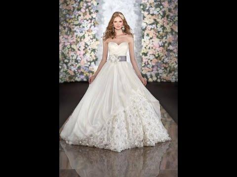 بالصور فساتين زفاف دانتيل , فستان مميز سهره 879 2
