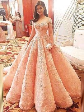 بالصور فساتين زفاف دانتيل , فستان مميز سهره